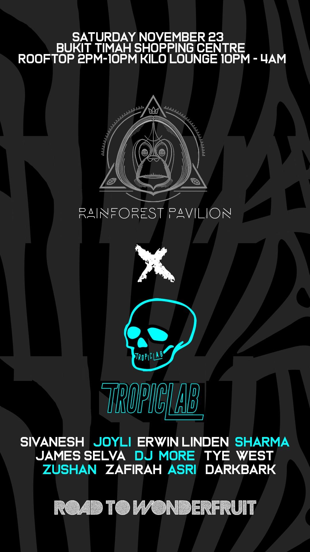 TropicLab X Rainforest Pavilion - Road to Wonderfruit
