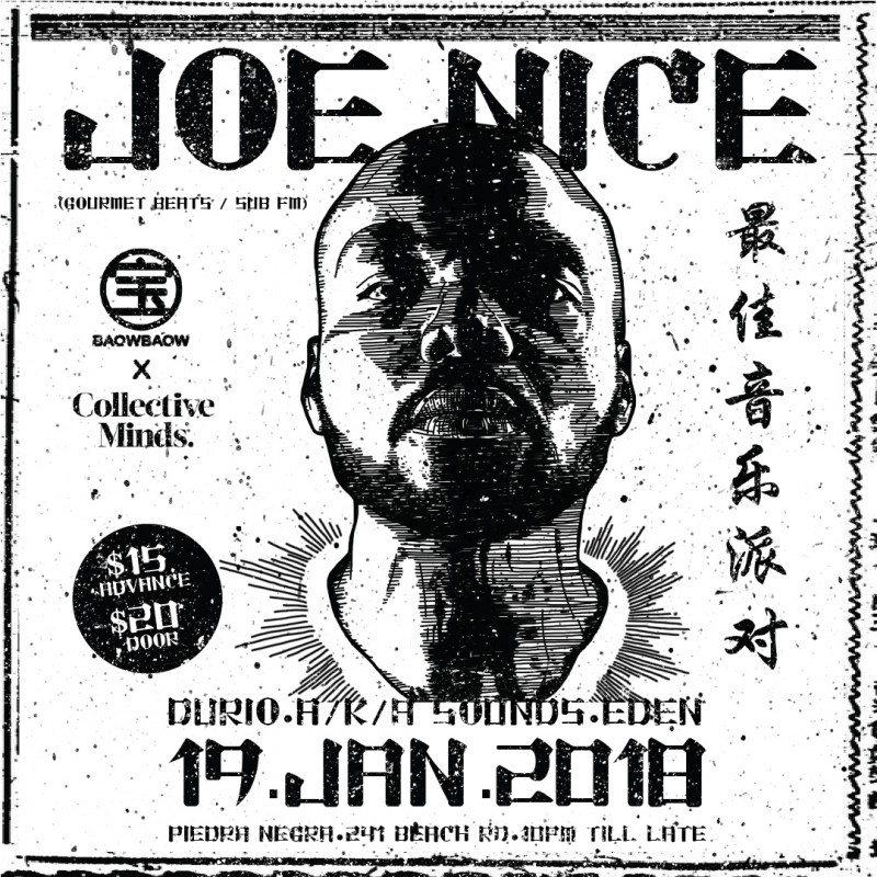 JOE NICE (Gourmet Beats / Sub FM) presented by BAOWBAOW x Collective Minds