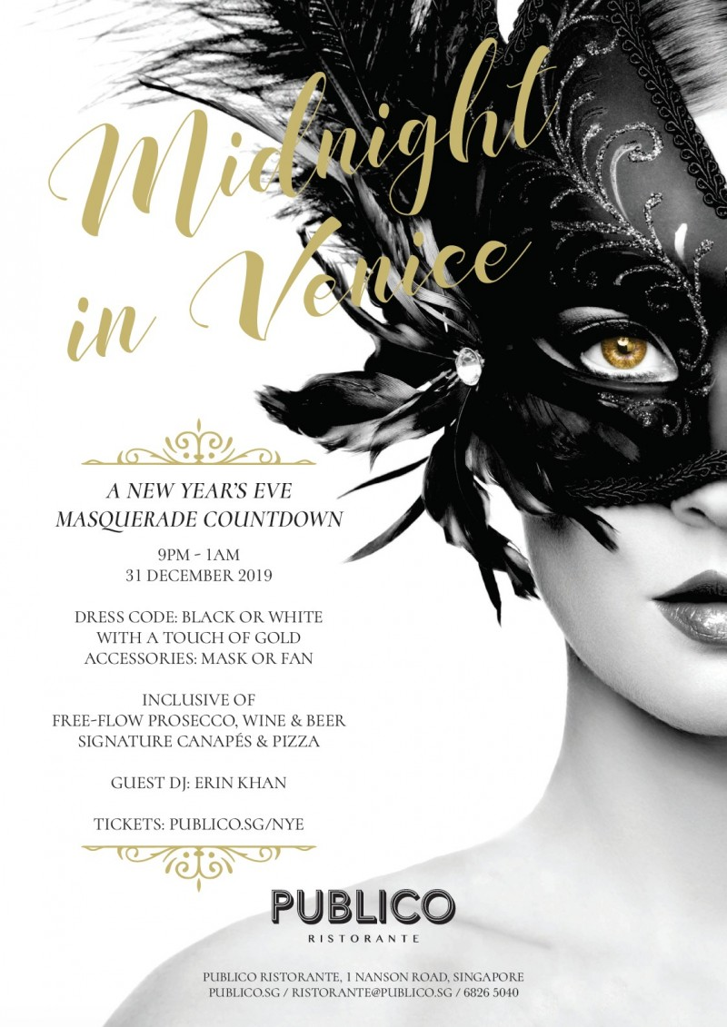 MIDNIGHT IN VENICE - New Year's Eve at Publico